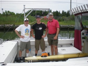 Four uncommon loons. Doug Miller, Andrew Hamilton and Art Trembanis with the University of Delaware's Gavia AUV